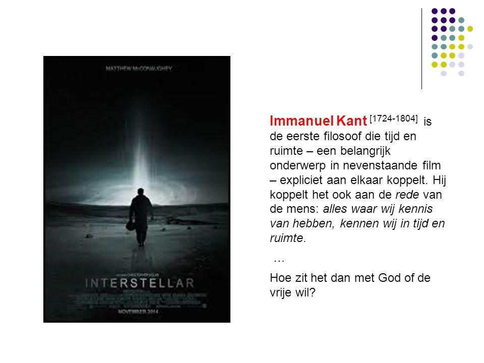 Immanuel Kant [1724-1804] is de eerste filosoof die tijd en ruimte – een belangrijk onderwerp in nevenstaande film – expliciet aan elkaar koppelt. Hij koppelt het ook aan de rede van de mens: alles waar wij kennis van hebben, kennen wij in tijd en ruimte.